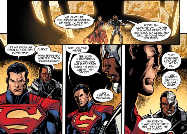 Superman Justifies Killing The Joker Underground