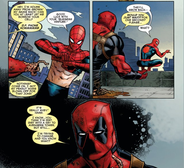 why deadpool wants to hang around with spider-man