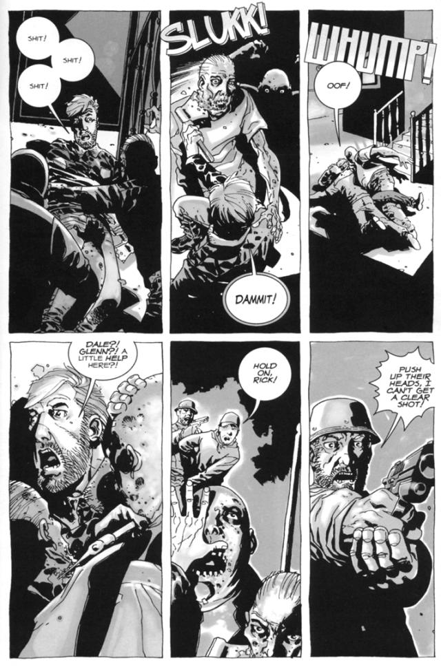 Tyreese Saves Rick Grimes's Life