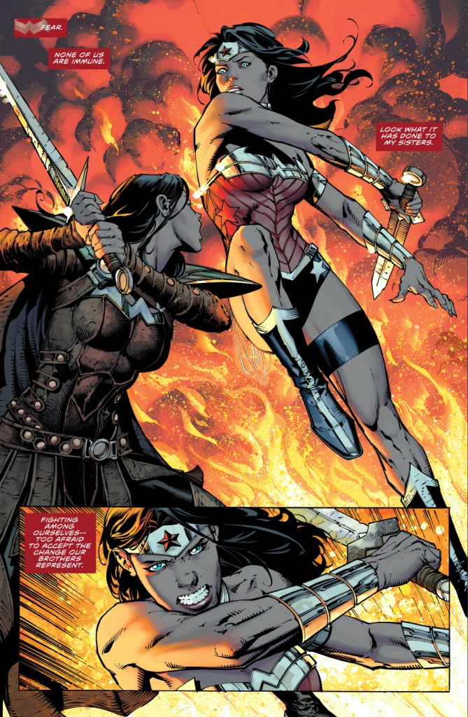 wonder woman's first meeting with donna troy (new 52)