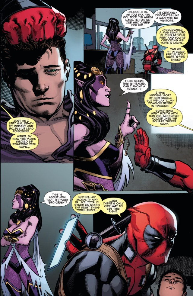Deadpool Shoots Peter Parker With A Shotgun