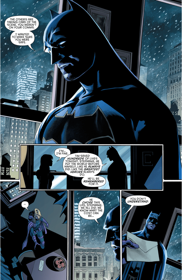 Batman And Spoiler Grieves For Red Robin