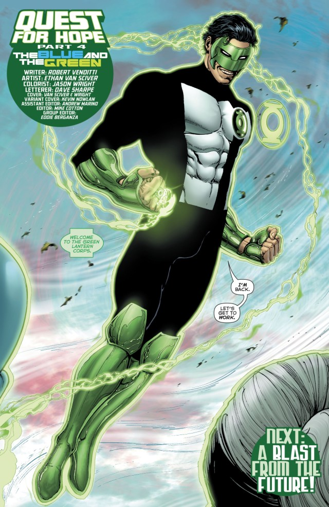 Kyle Rayner Returns To The Green Lantern Corps