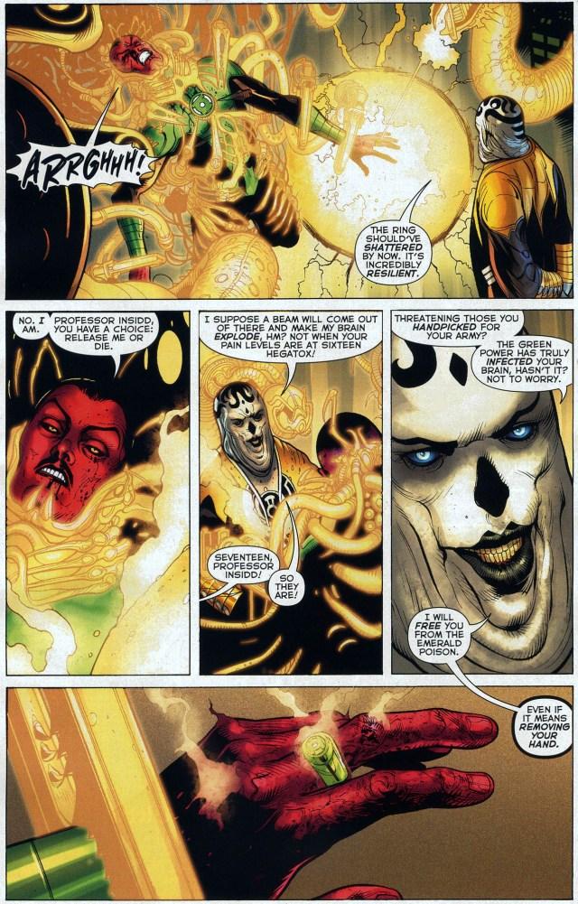 The Sinestro Corps Tortures Sinestro