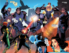 X-Men Blue VS Sentinels