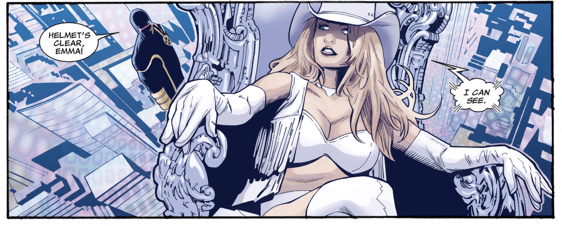 Emma Frost Attacks Kuurth Telepathically (Fear Itself)