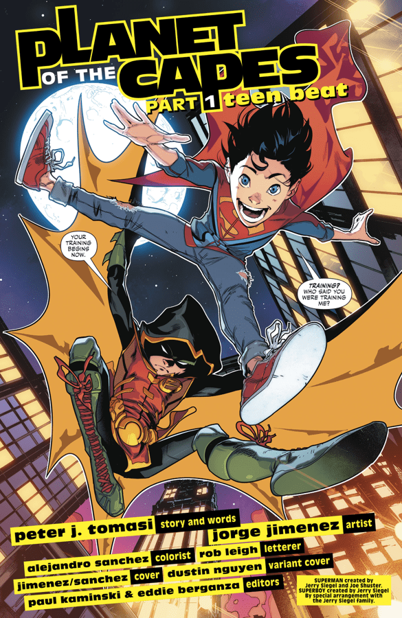Robin Takes Superboy On Patrol (Rebirth)