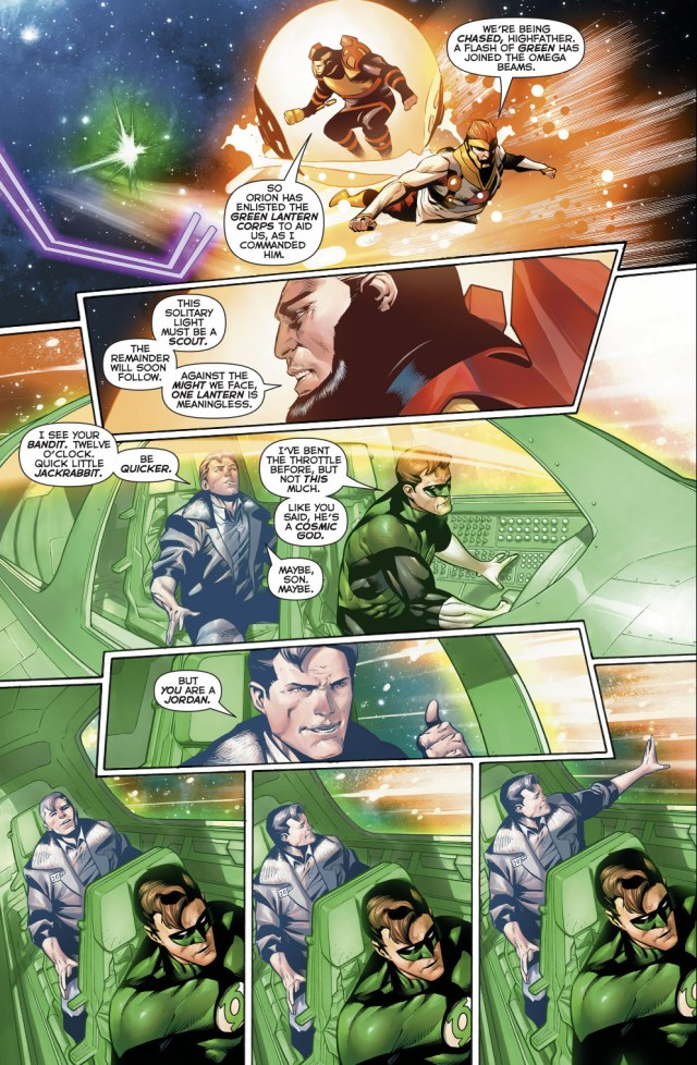 Hal Jordan Flying In Space With His Father