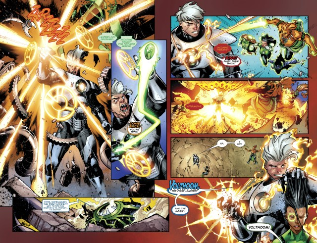 The 1st 7 Green Lanterns VS Volthoom