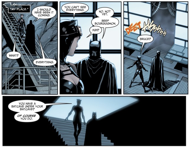 Catwoman Meets Brother Eye (Injustice II)