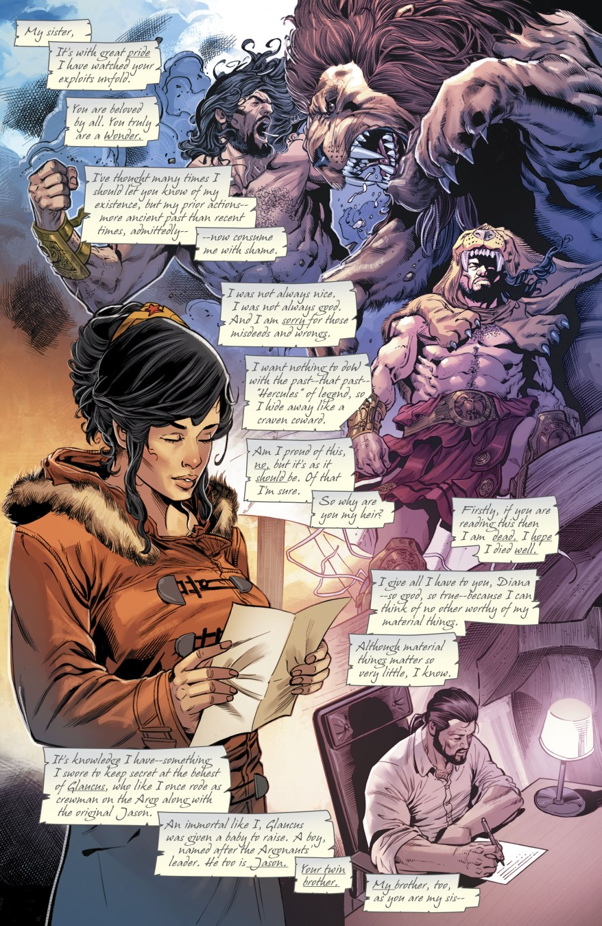 Hercules Names Wonder Woman His Heir (Rebirth)