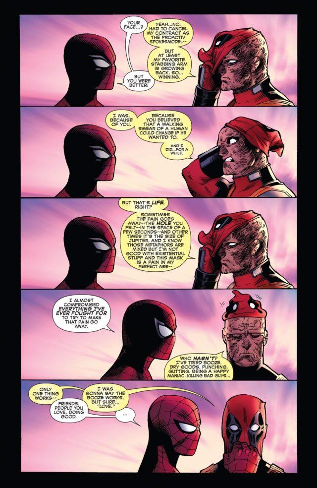 Spider-Man And Deadpool Hugging