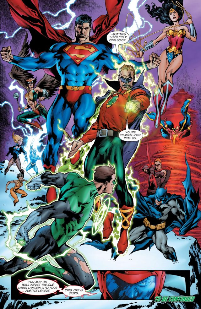 The Justice League (Green Lantern Vol 4 #15)