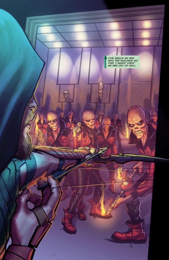 Green Arrow VS The Burned