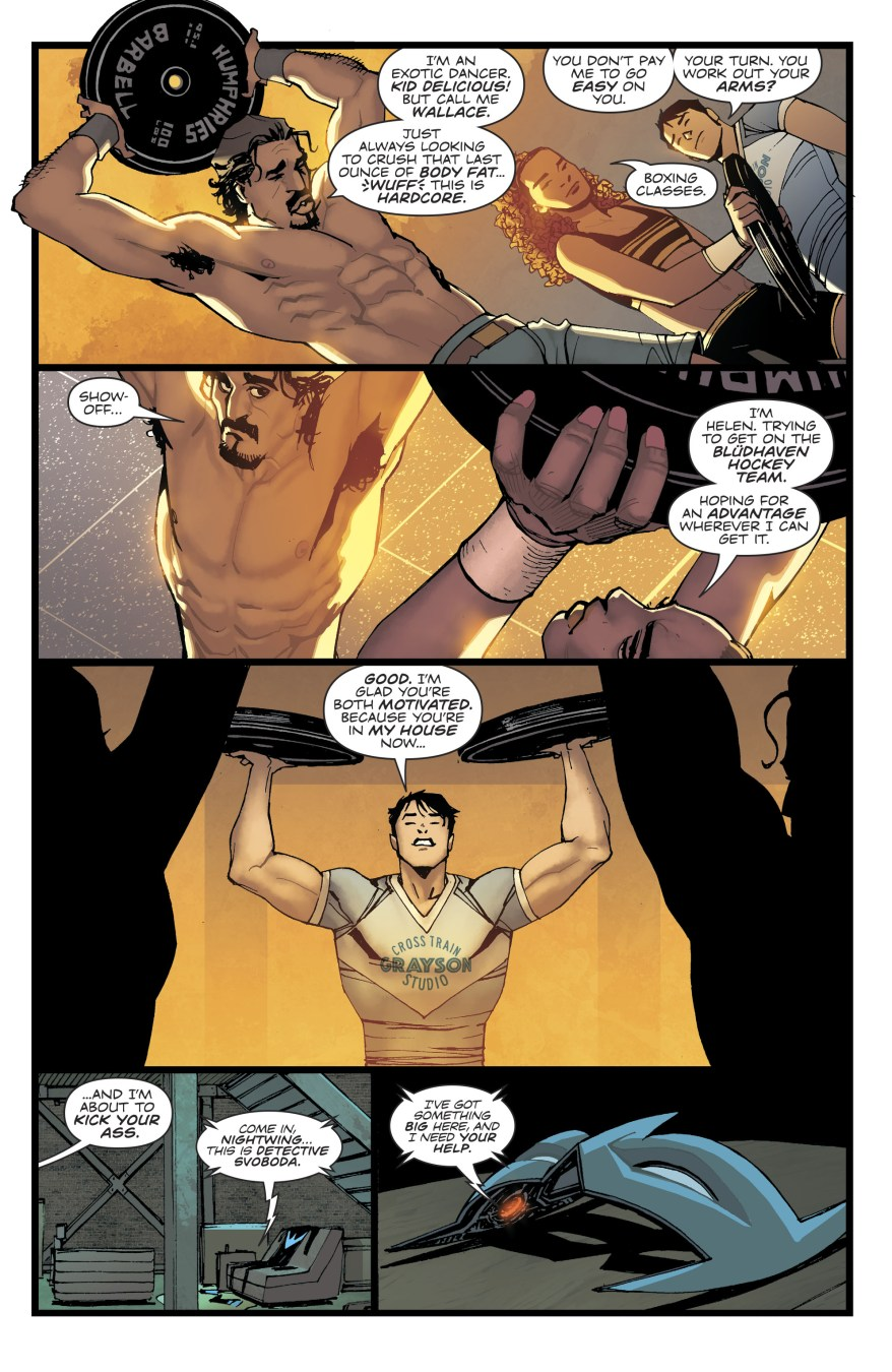 Nightwing Opens A Gym In Bludhaven