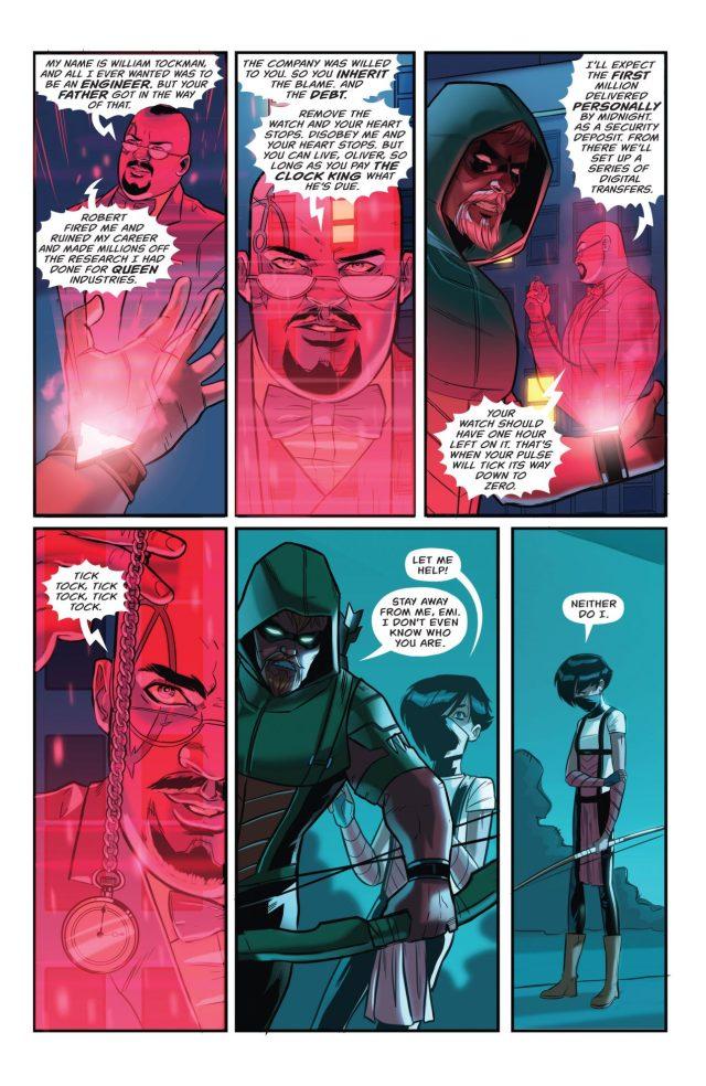 Emiko Queen Betrays Green Arrow To The Clock King