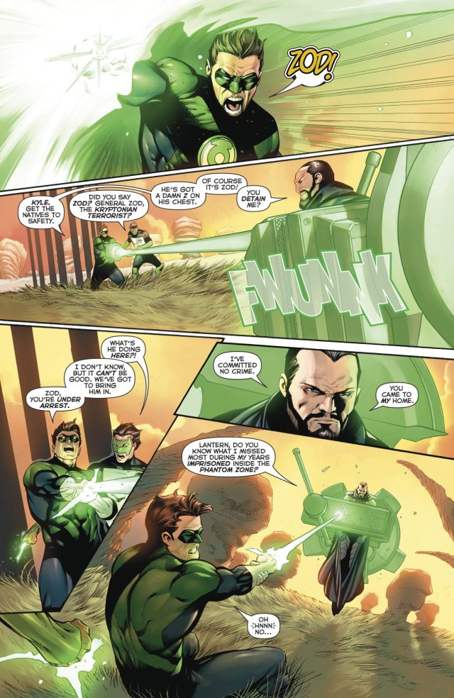 Hal Jordan And Kyle Rayner VS House Of Zod