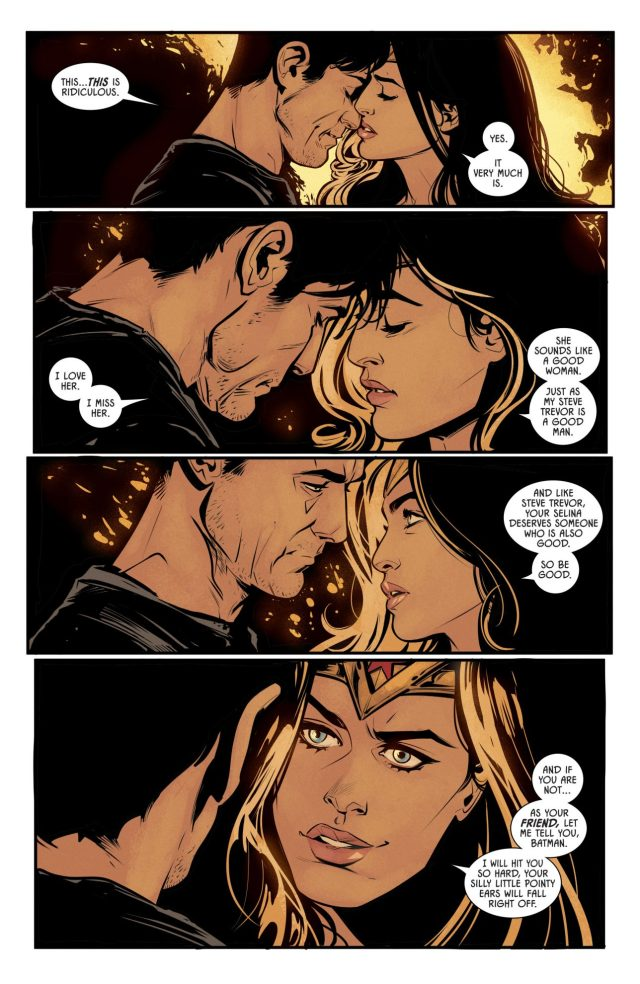 Batman And Wonder Woman Almost Kiss (Rebirth)