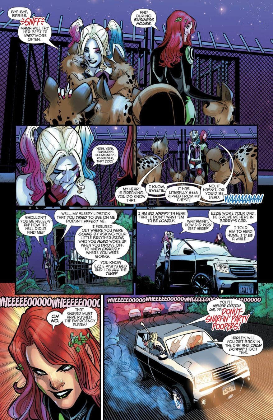 Harley Quinn And Her Pet Hyenas
