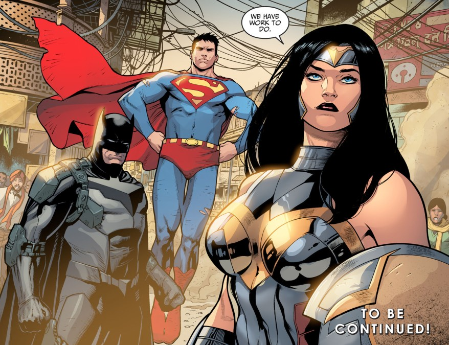Wonder Woman Saves Batman From Amazo (Injustice II)