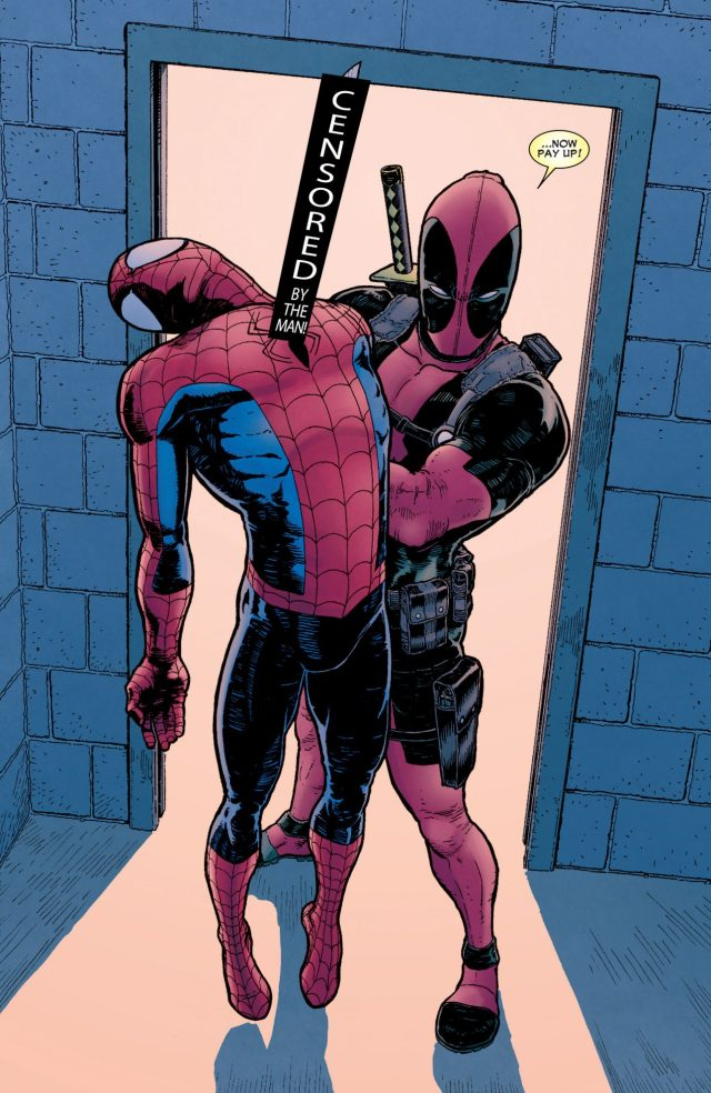 Spider-Man And Deadpool Switches Costumes