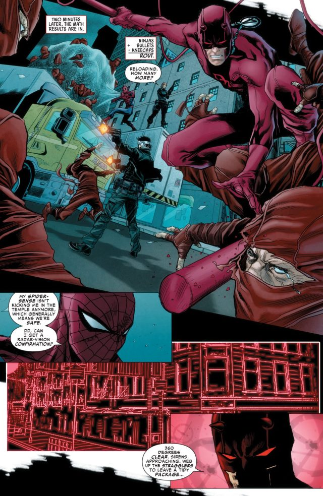 Spider-Man, Daredevil And The Punisher VS Hand Ninjas