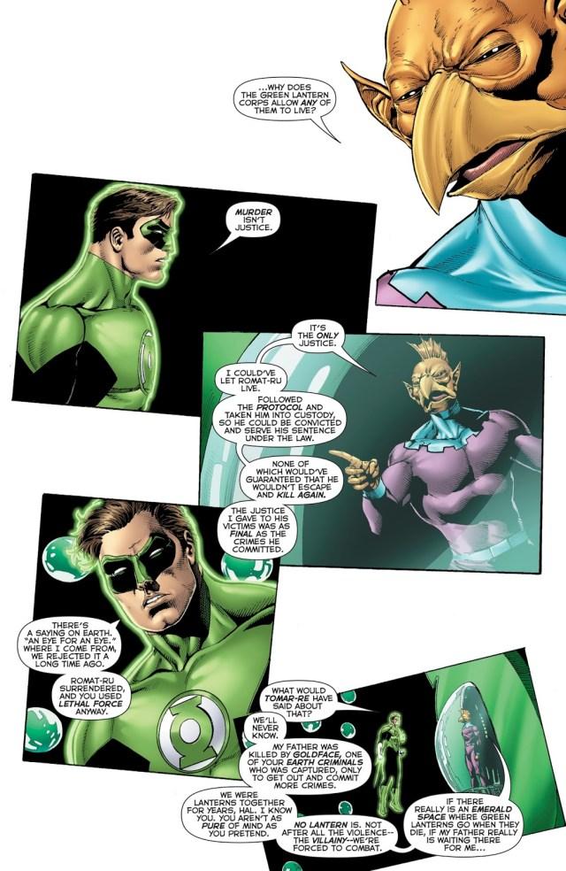 Green Lantern Tomar-Tu Is Ok With Killing Criminals