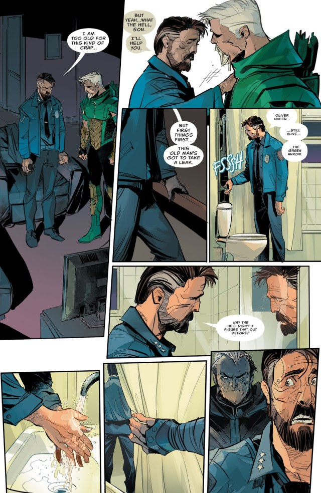 Green Arrow Reveals His Secret Identity To Chief Westberg