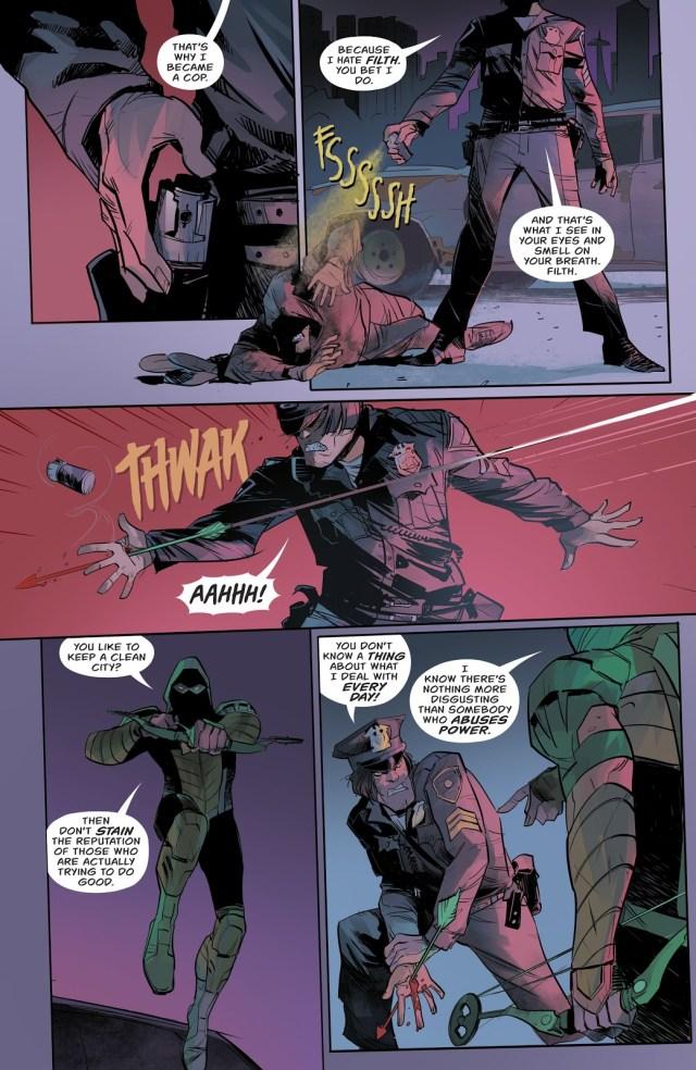 Green Arrow VS An Abusive Cop