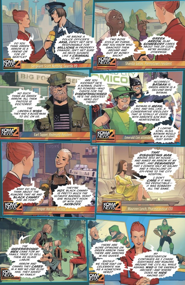 What Seattle Thinks Of Green Arrow (Rebirth)