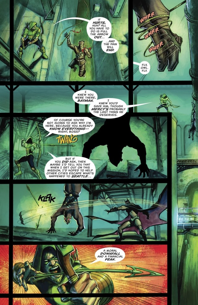 Green Arrow Receives A Lecture From Batman (Rebirth)