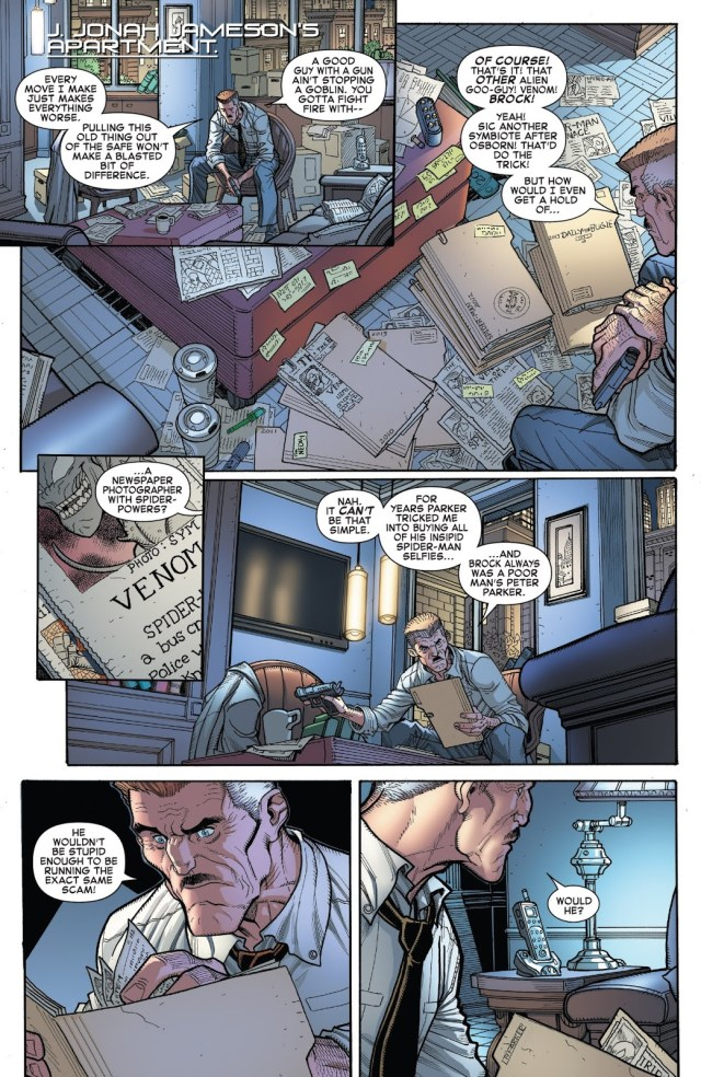 Jonah Jameson Learns Venom Is Eddie Brock