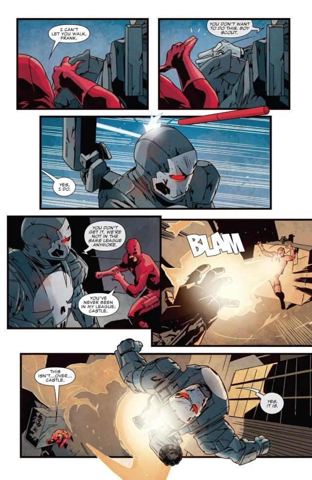 War Machine Punisher Takes Down Daredevil