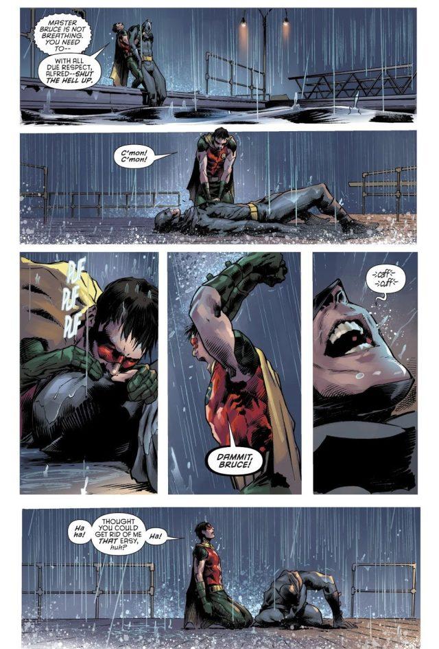Robin Jason Todd Saves Batman's Life (Rebirth)
