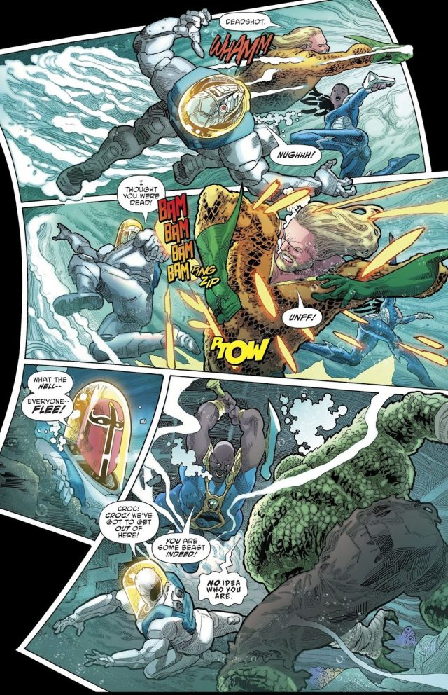 Aquaman And Dolphin VS The Suicide Squad