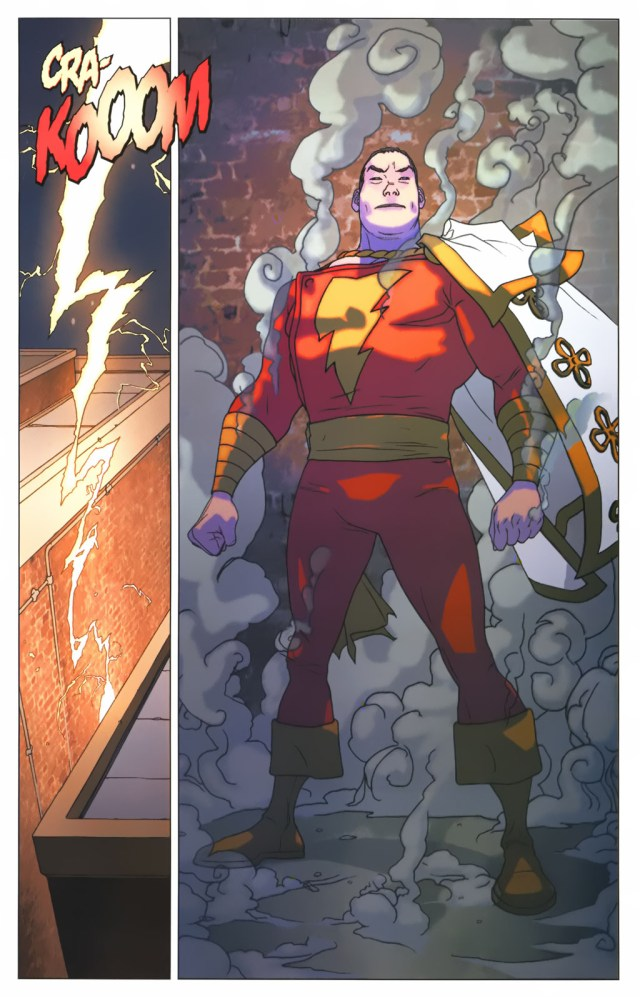 Billy Batson Transforms Into Captain Marvel (First Thunder)