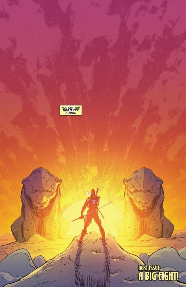 Black Panther Cauterizes Deadpool's Arm
