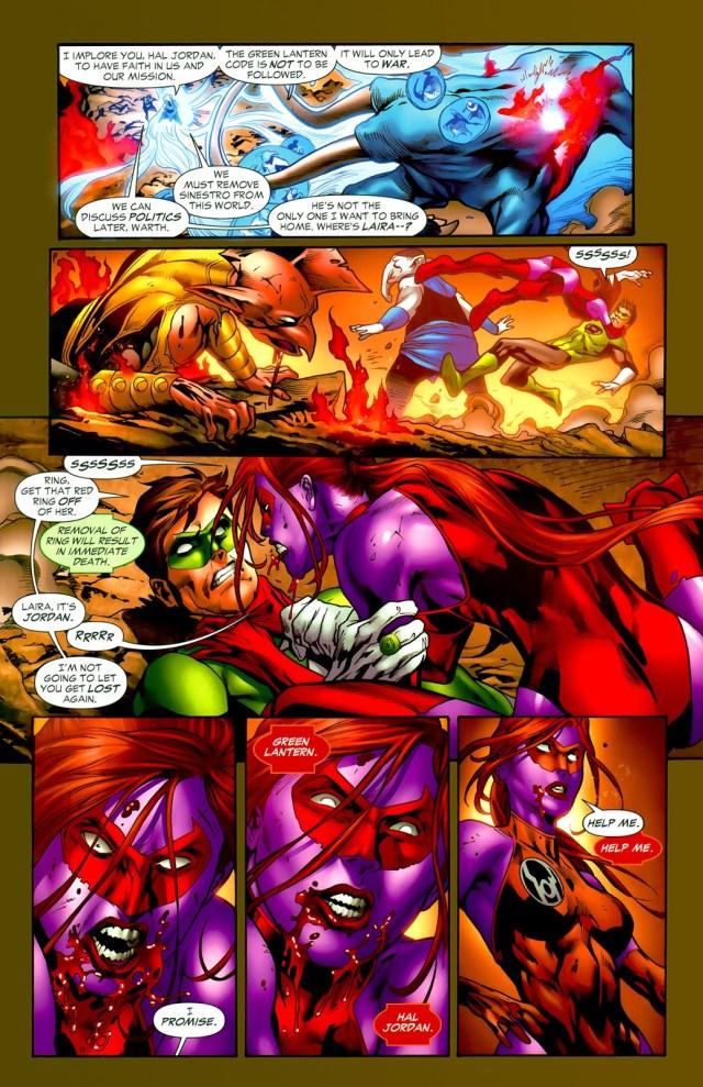 Sinestro Kills Red Lantern Laira