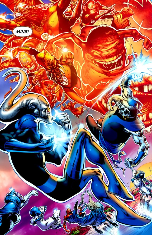 Orange Lantern Corps VS Blue Lantern Corps (Green Lantern Vol. 4 #42)