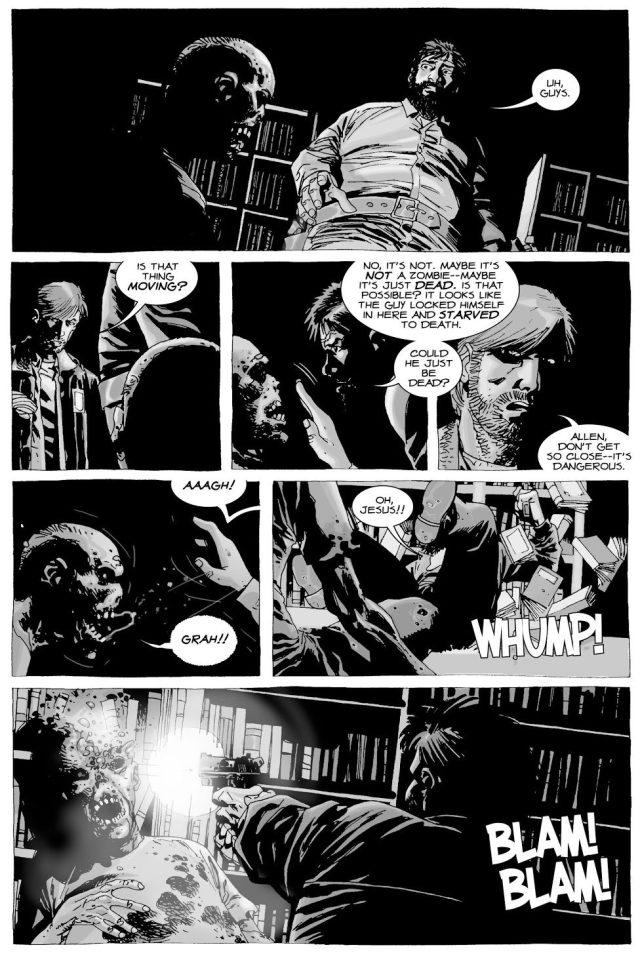 Allen Gets Bitten By A Zombie (The Walking Dead)