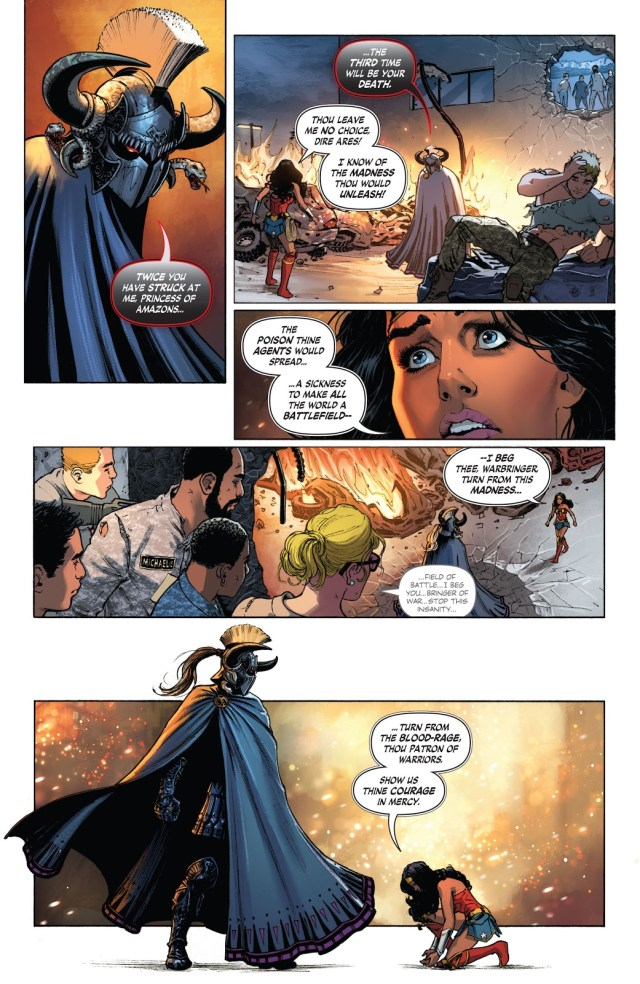 Wonder Woman Challenges Ares (Rebirth)