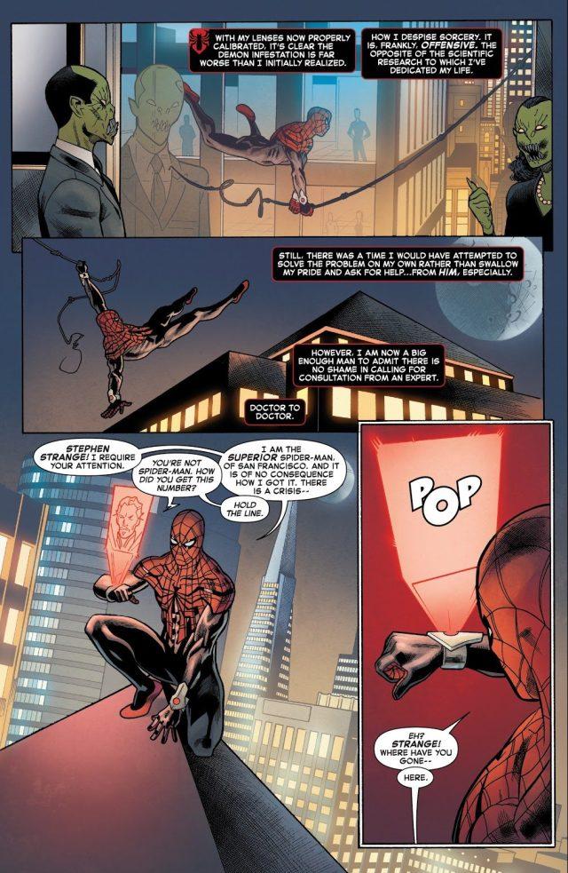 Doctor Strange Attacks Superior Spider-Man