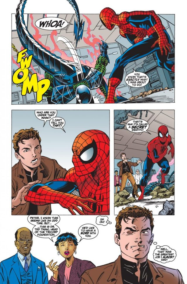 Peter Parker Uses Science Against The Scorpion