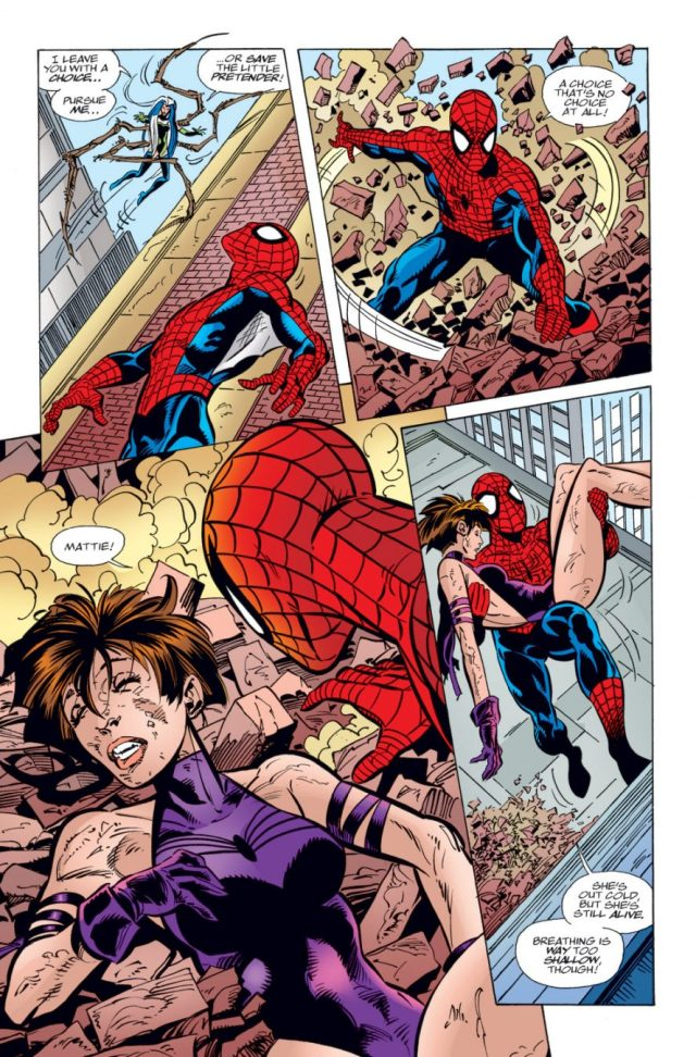Spider-Woman Kisses Spider-Man