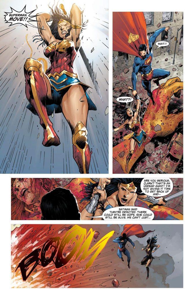 Cyborg Kills Giganta (DCeased)