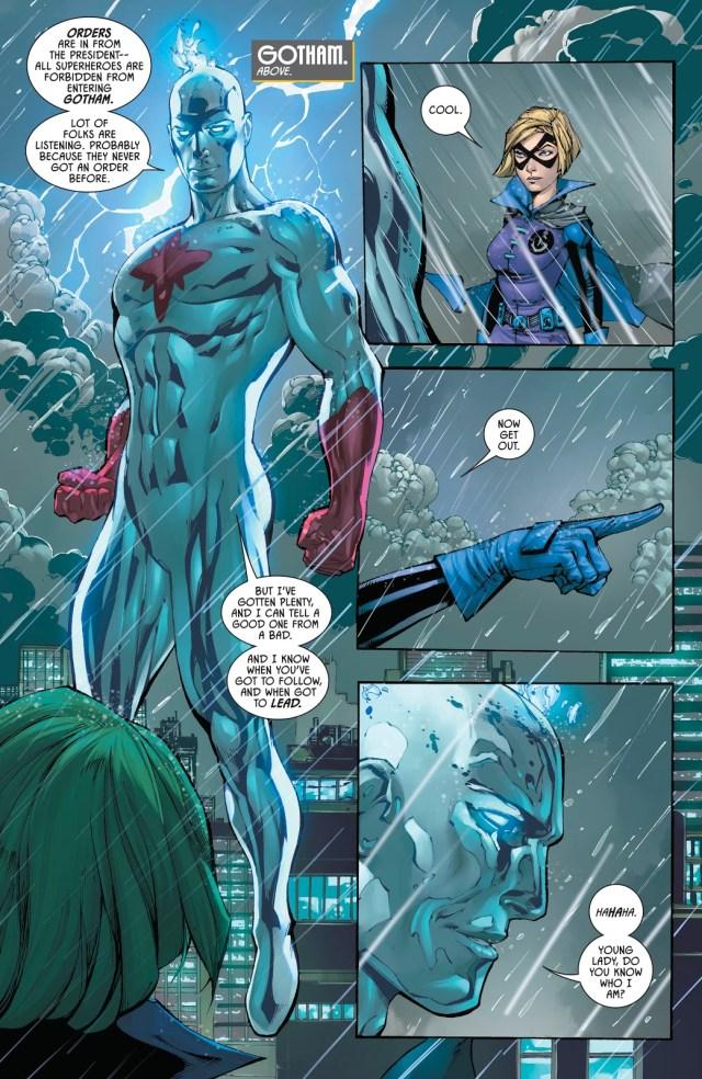 Gotham Girl VS Captain Atom