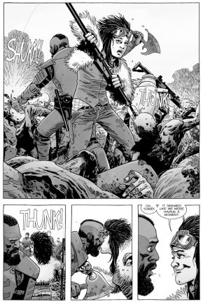 Mercer And Juanita Sanchez Kiss (The Walking Dead)