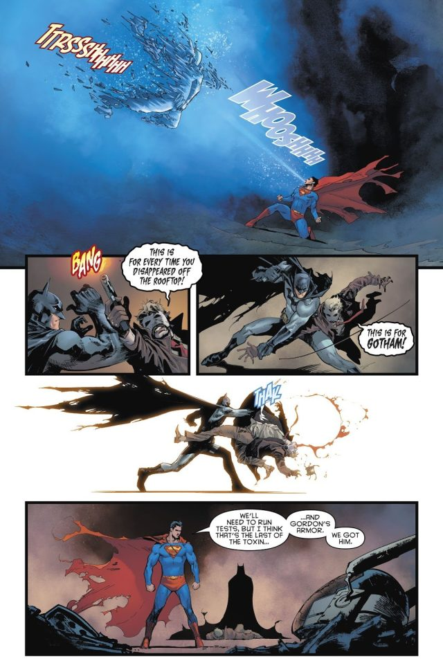 Superman And Batman VS Jokerized Jim Gordon