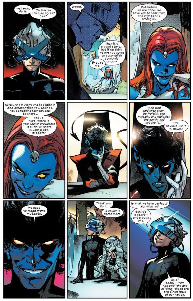 The Quiet Council Of Krakoa Creates The Mutant Laws