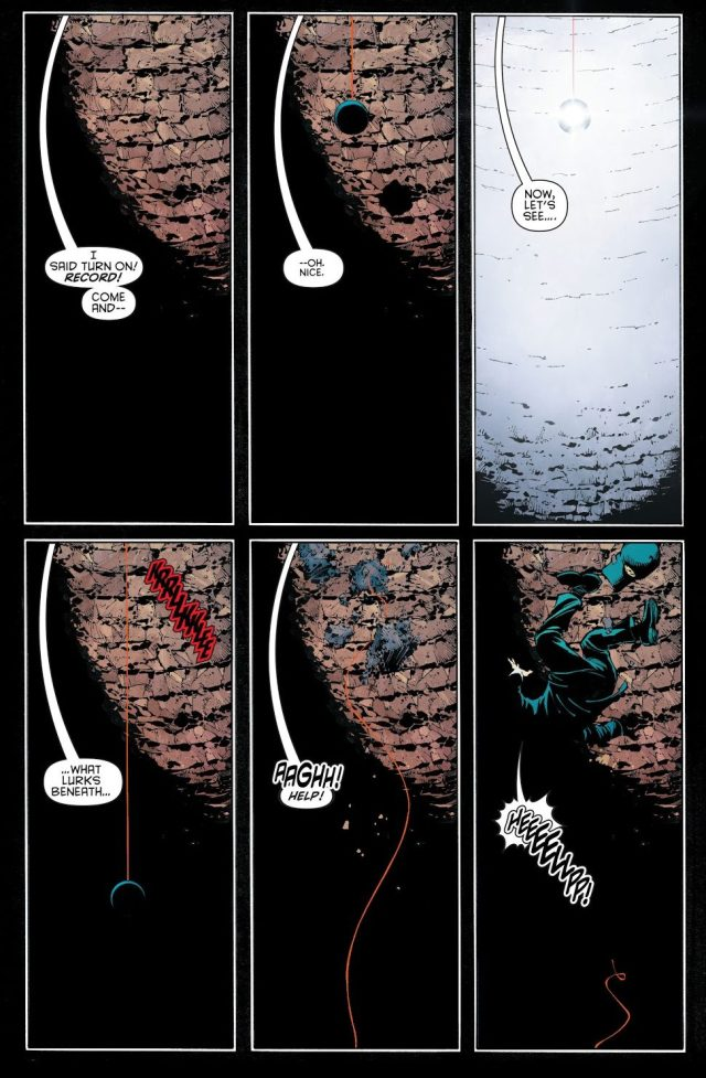 Young Bruce Wayne Falls Into The Batcave (New 52)